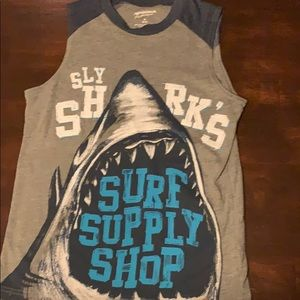 Shark sleeveless tshirt